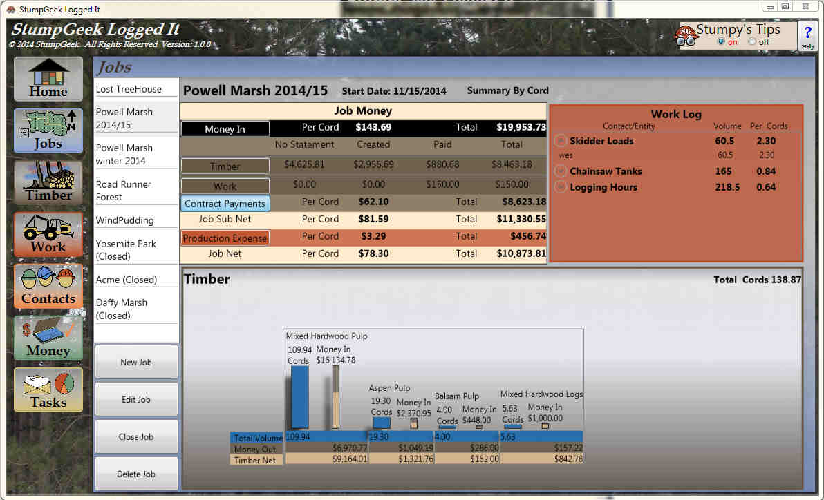 Manage your jobs with Logged It Business Management Software for Loggers